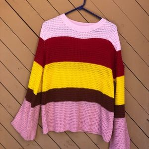 cb90236ba07b49 Vici Sweaters - Vici Dolls Groovy Days Knit Striped Top